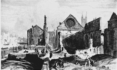 Plate 46: Winchester Palace after the fire of 1814