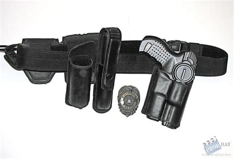 Police Gunbelt with Holster, Pouches and More Movie Prop
