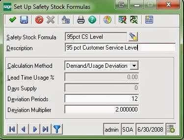 Using Demand Deviation in Calculating Safety Stock in Sage
