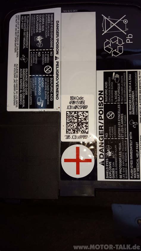 Battery replacement with Audi/VW Enertec battery VCDS