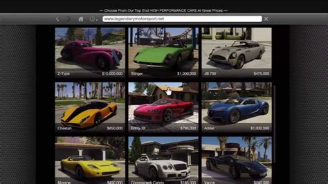GTA 5 - How To Get All Legendary Sport Cars - YouTube
