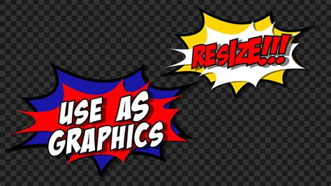 Comic Book Flash Transitions - Motion Graphics Template