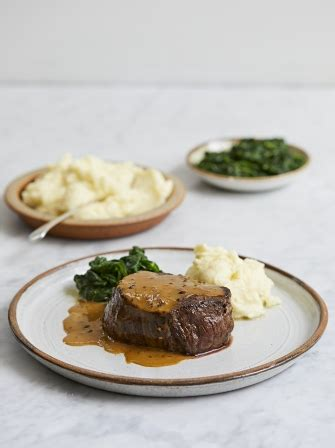 Fillet steak with peppercorn sauce   Beef recipes   Alexis