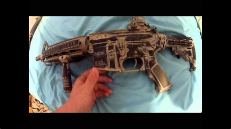 m4 custom paint and airsoft bloopers - YouTube
