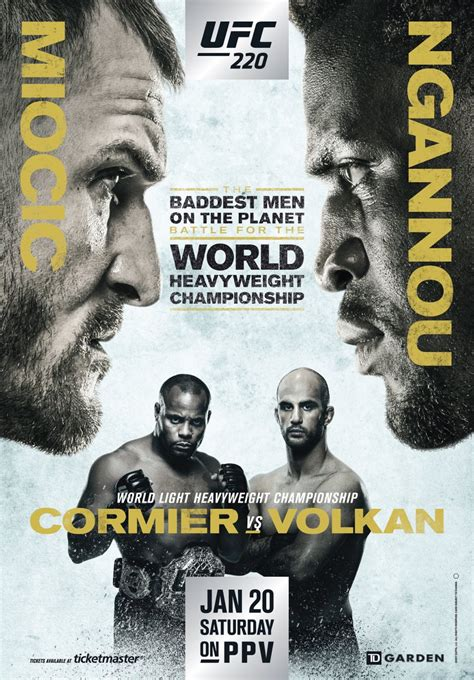 UFC 220 fight card finalized - FIGHTMAG