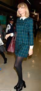 Taylor Swift in mini dress and chunky heels in Japan